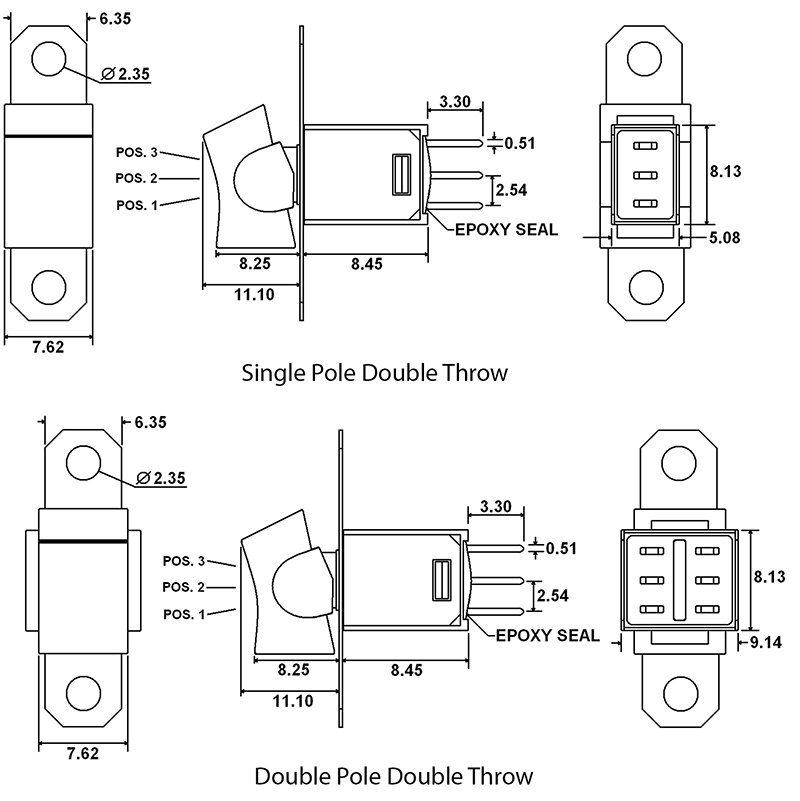 4 pole switch