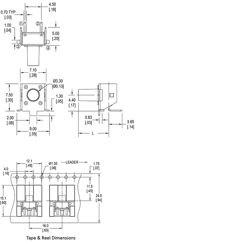 tact switch wiring diagram 2 5mm thermistor wiring diagram