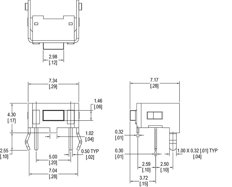 Right Angle Momentary Tactile Switch