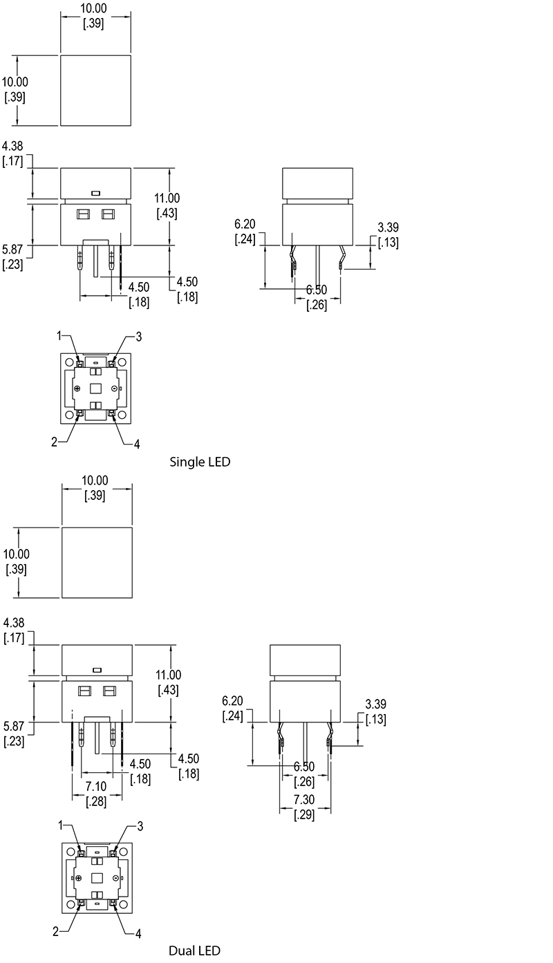 Tactile Switch Led Square Switch Cit Relay And Switch