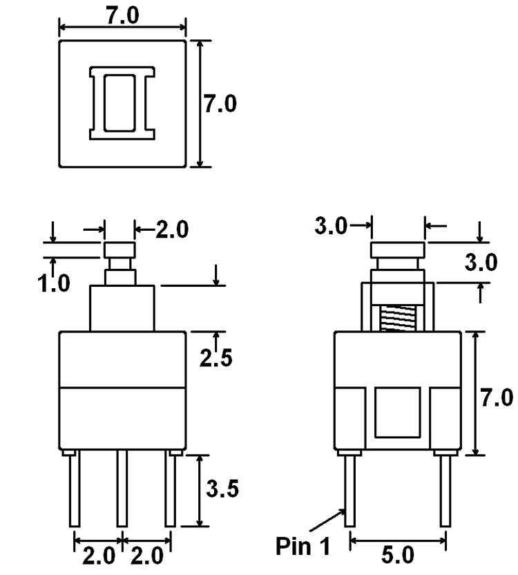 push button switch dpdt