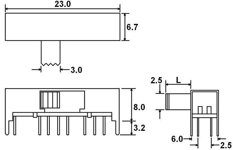 4p3t slide switch