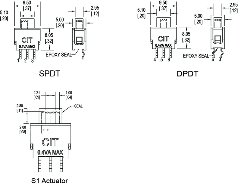 spdt slide switches