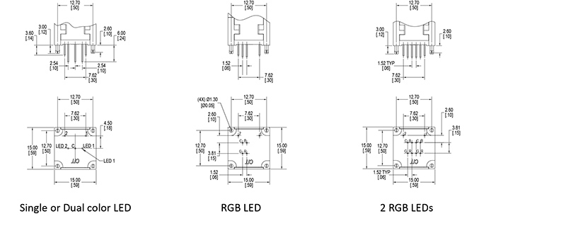 led push button switch