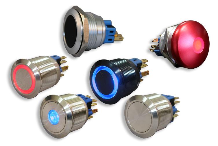 Illuminated Push Button Switches | Micro Push Button Switches